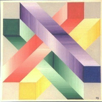 336 - Fantasy after Vasarely - N.Hoogenboom Jr.[40x40]